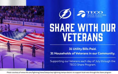 Connecting the Tampa Bay Lightning and Tampa Electric with Local Veterans for Share Program